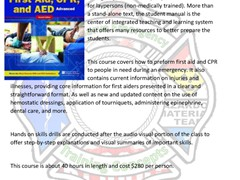 Advanced First-Aid, CPR & AED