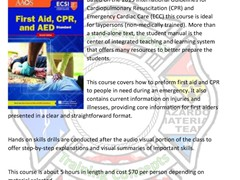 Standard First Aid, CPR & AED